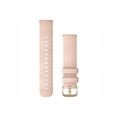 Quick Release Bands (20 mm), Blush Pink Woven Nylon with Light Gold Hardware
